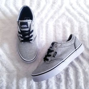 VANS grey youth sneakers size 2.5
